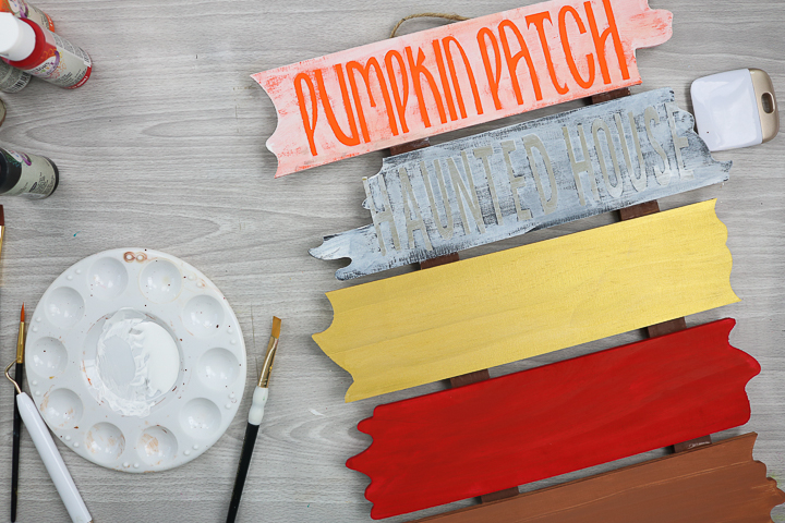 diy halloween wood sign