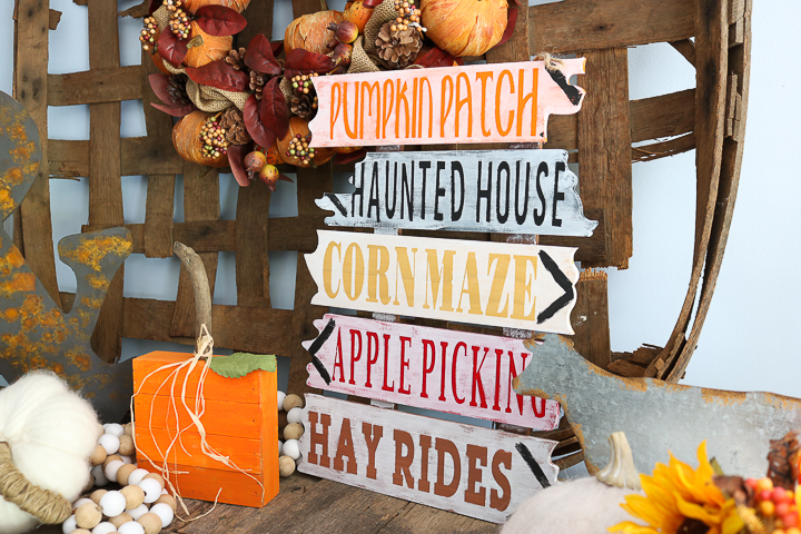 hay rides fall wood sign