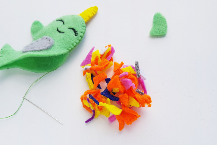 stuffing for felt narwhal craft