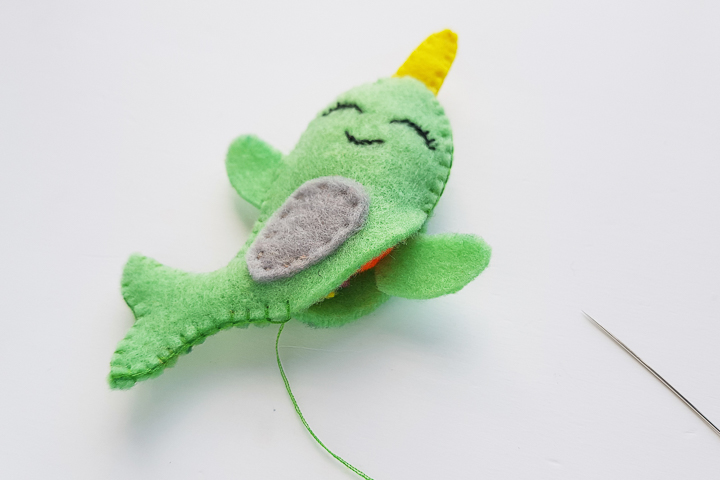 making a narwhal with a cricut