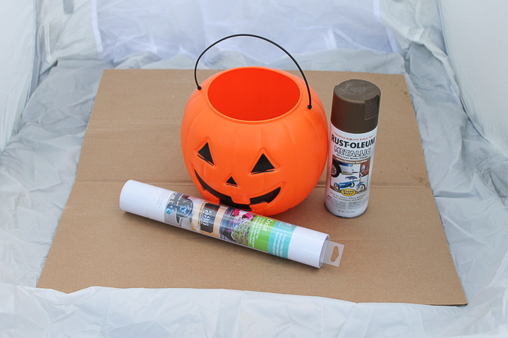 supplies to make a fall planter from pumpkins