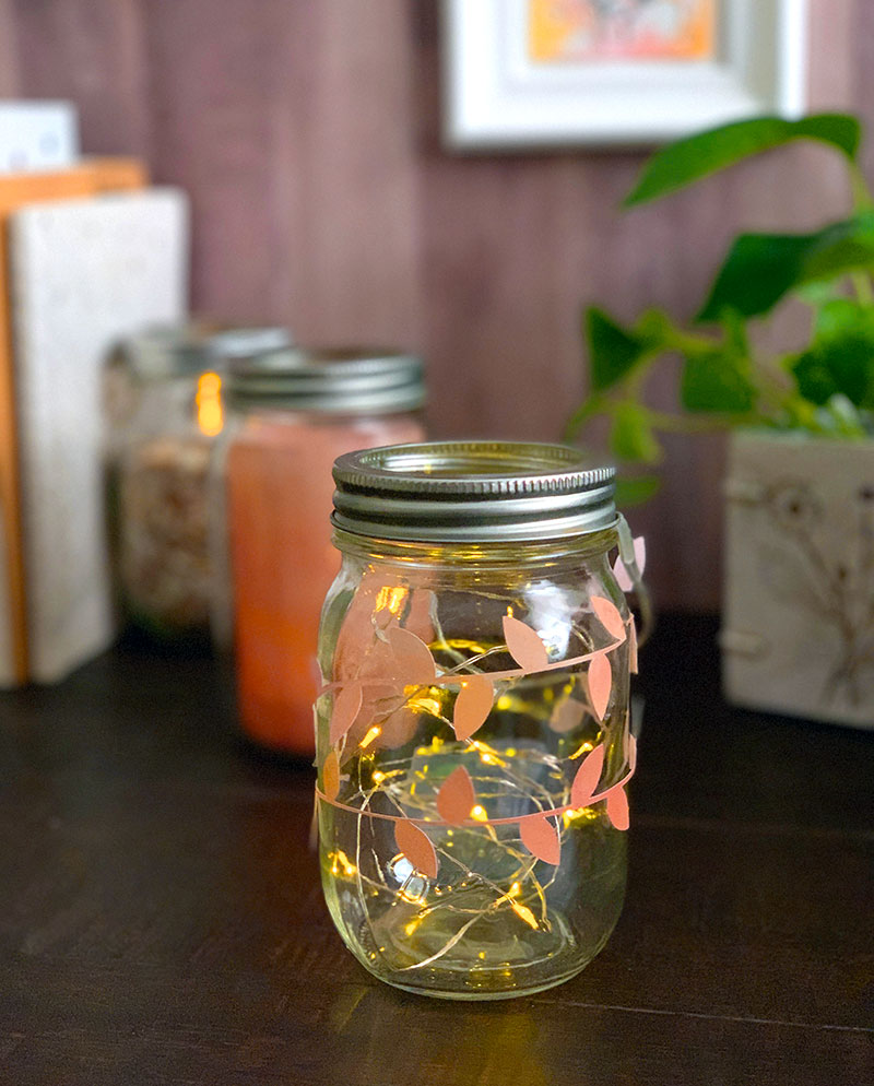 fall fairy light luminary