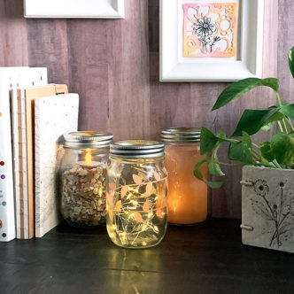 Light in a mason jar