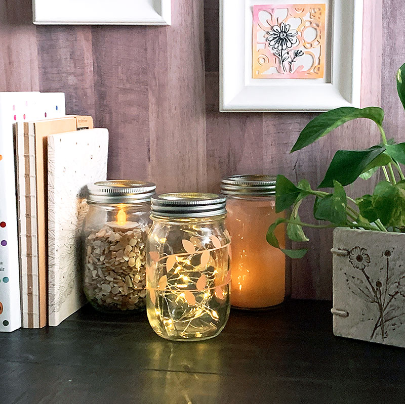 fall mason jar display