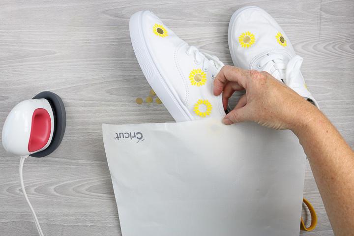 cricut iron on shoes