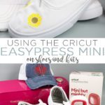 How to use the Cricut EasyPress Mini on shoes, hats, and so much more! Everything you need to know about the mini iron from Cricut! #cricut #cricutcreated #cricutmade #easypress #easypressmini #htv #heattransfervinyl