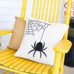 spider pillow for halloween