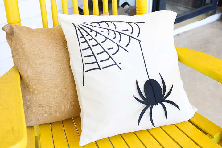 pillow made with cricut for halloween