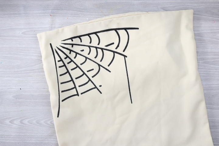 spider web pillow cover