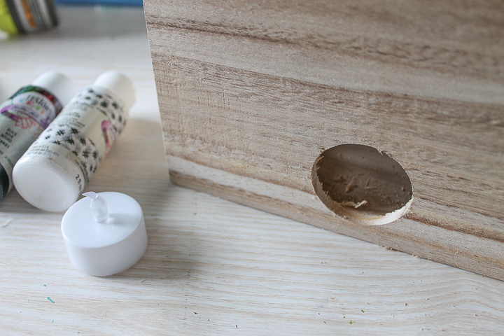 drilling hole for tea light