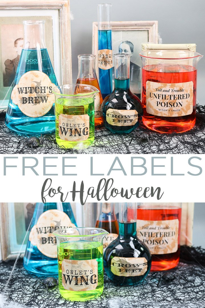 photo about Printable Halloween Labels identify Halloween Labels toward Print for Cost-free - The Place Stylish Cottage