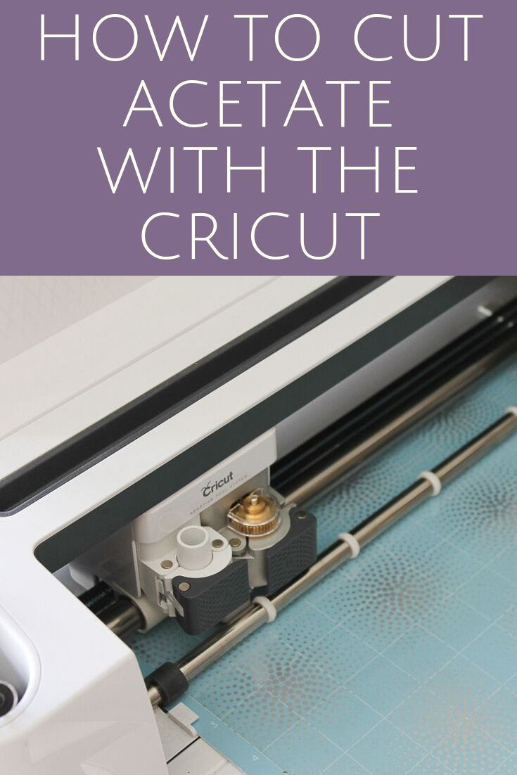 Learn all about how to cut acetate with the Cricut and see some project inspiration. Open up a whole new world of great crafts by adding this material to your machine! #cricut #cricutcreated #cricutmade #acetate