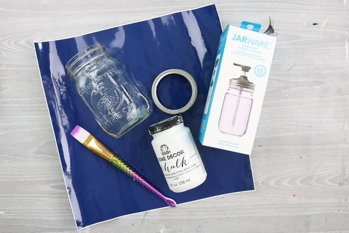supplies to make a soap dispenser from a mason jar