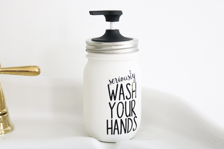 how to make a mason jar soap dispenser