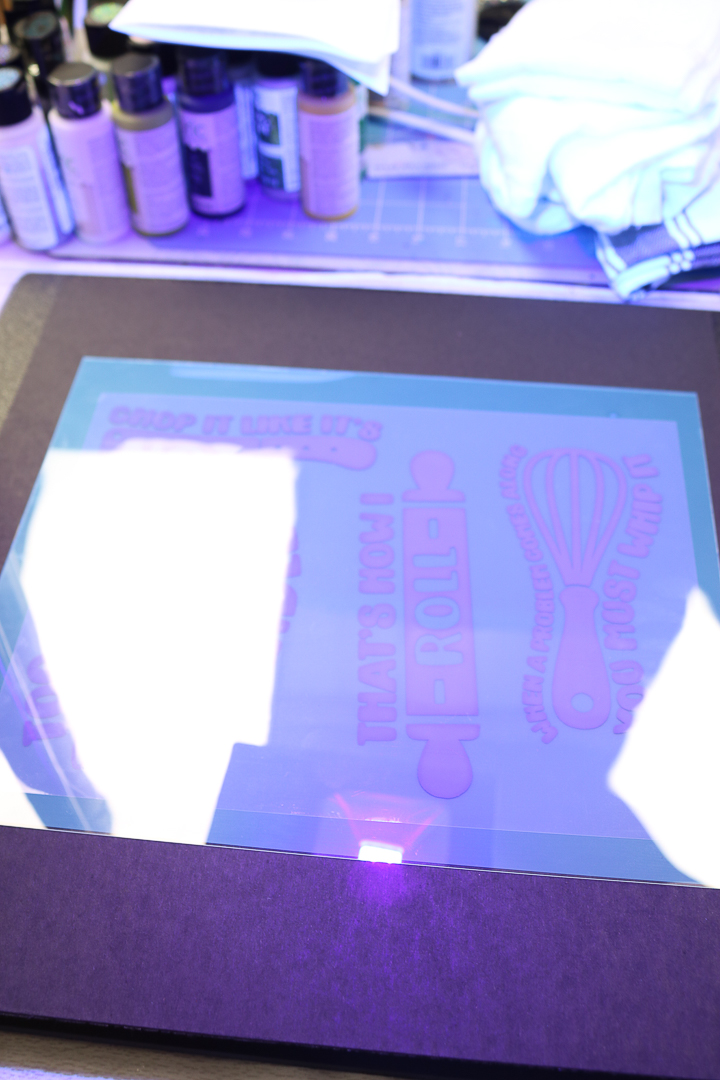 black light to make a silkscreen stencil