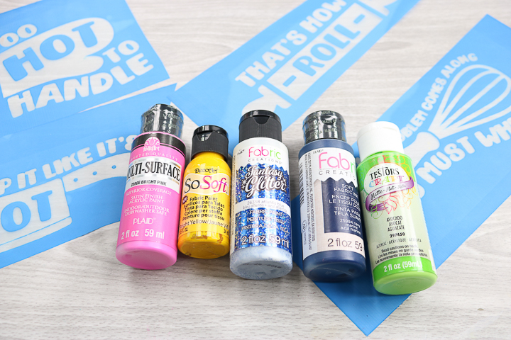 what type of paint to use with a silkscreen stencil