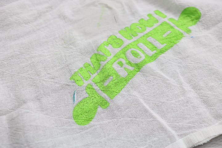 using multi-surface paint with a silkscreen