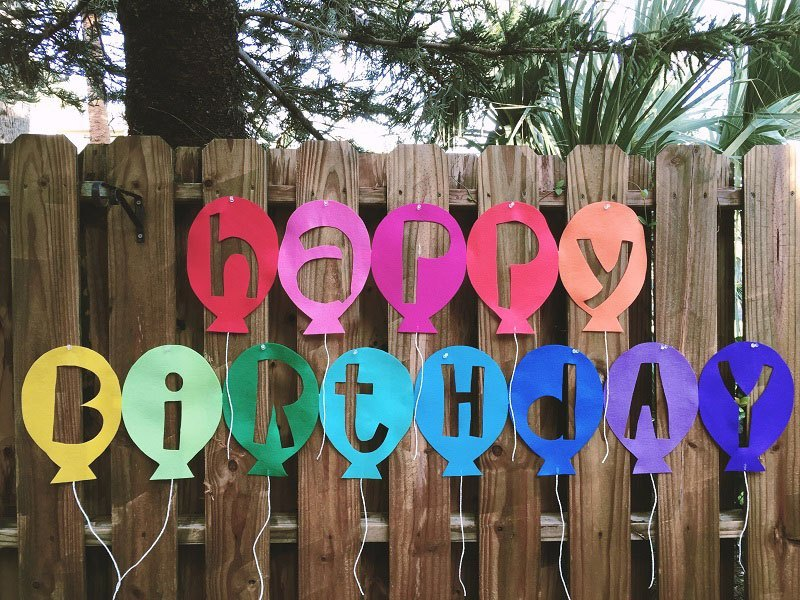 party craft birthday banner
