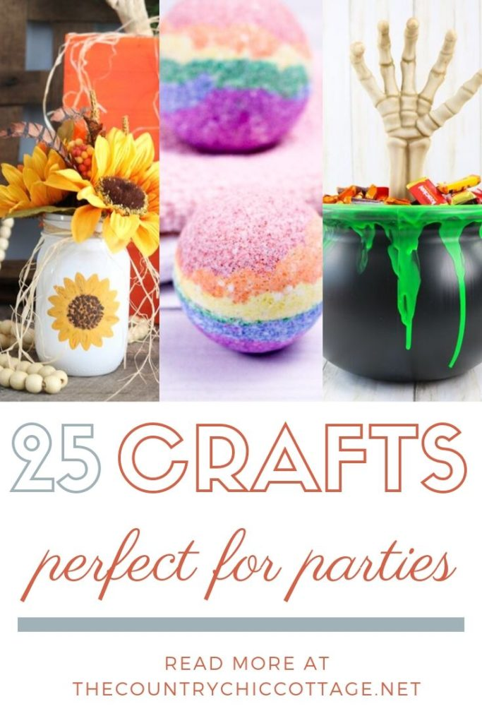 Give these 25 party craft ideas a try! These can all be made in 15 minutes or less and will spruce up any party any time of the year! #party #partycraft #crafts #diy