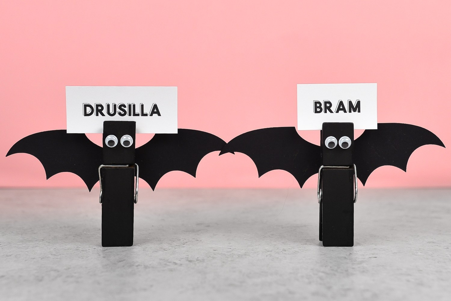 quick party crafts halloween bat placecard