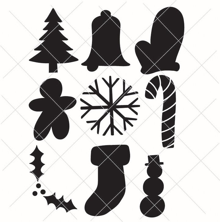 christmas shapes free svg files