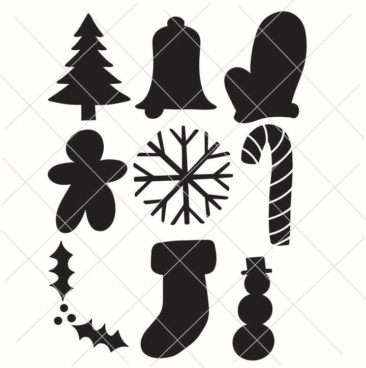 christmas shapes free svg files