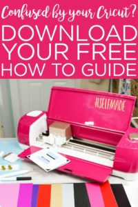 Download the Beginner's Guide to Cricut Design Space for FREE! Perfect for Cricut Explore or Cricut Maker and everything you need to know to start using your machine! #cricut #cricutcreated #cricutmade #cricutdesignspace #cricutguide #howto