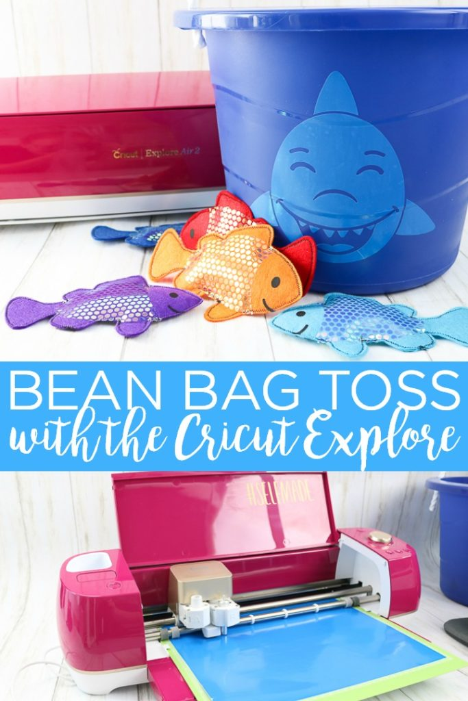 Make this DIY bean bag toss as a gift for your little one this year! Use your Cricut Explore Air 2 and our cut file to make this easy project then surprise your little one with a handmade gift! #cricut #cricutcreated #cricutexplore #kidsgift #giftidea #handmade #handmadegift #toddler #preschool #toddlergift #christmas #christmasgift #fish #shark #beanbags #cricutmachine #cricutgift #cricutideas