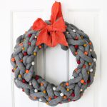 DIY Fall Wreath with Yarn