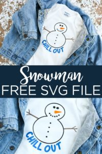 Get a free snowman SVG file for your Cricut or Silhouette machine! You will even find a link for even more free winter SVG files that you will love! #svg #freesvg #svgfile #cricut #cricutcreated #silhouette #cutfile #freecutfile #winter #snowman #chillout