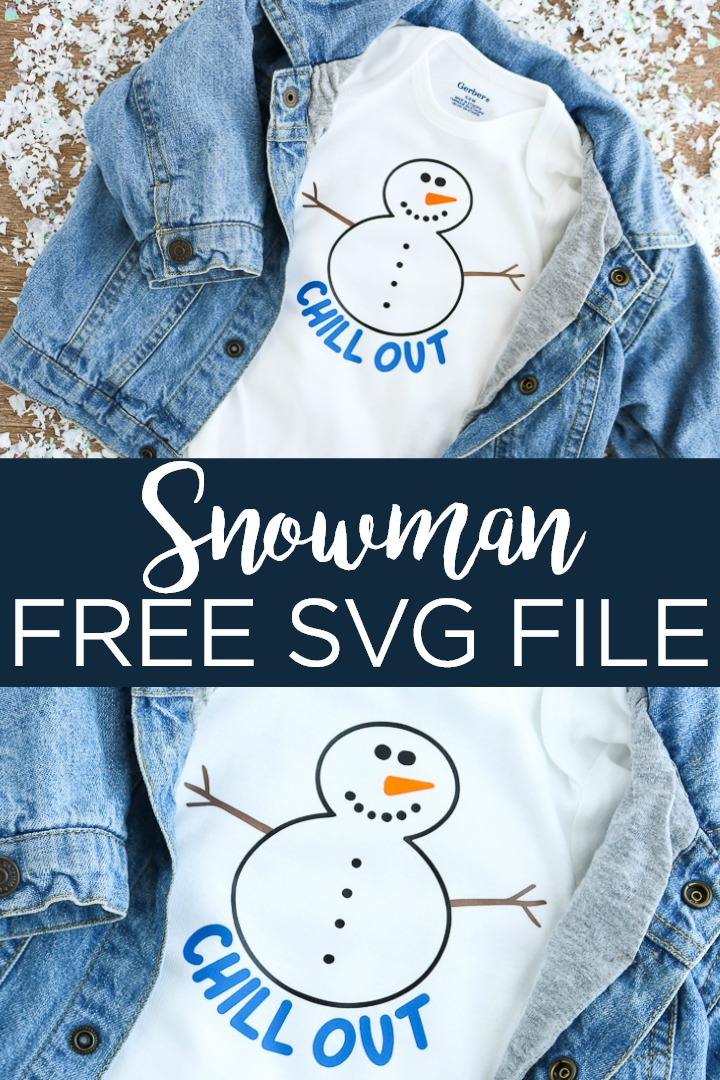 Get a free snowman SVG file for your Cricut or Silhouette machine!