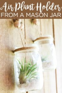 Make air plant hangers from mason jars in minutes with this easy tutorial! These will look great in your home's decor and they are perfect for any room! #airplants #masonjar #homedecor