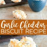 Make these garlic cheddar biscuits for supper any night of the week! Red Lobster copy cat biscuits are easy to make and oh so good! #recipe #garliccheddar #redlobster #biscuits