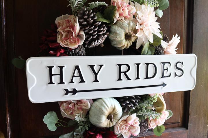hay rides fall wreath