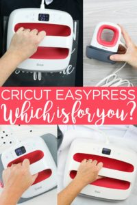 Which Cricut EasyPress is best? We are tackling the question and comparing features so you pick the right one to add to your craft room! #cricut #cricutcreated #cricuteasypress #easypress #shoppingguide #shopping #giftguide #gift #holidaygift #giftidea #crafter #crafting #craftroom