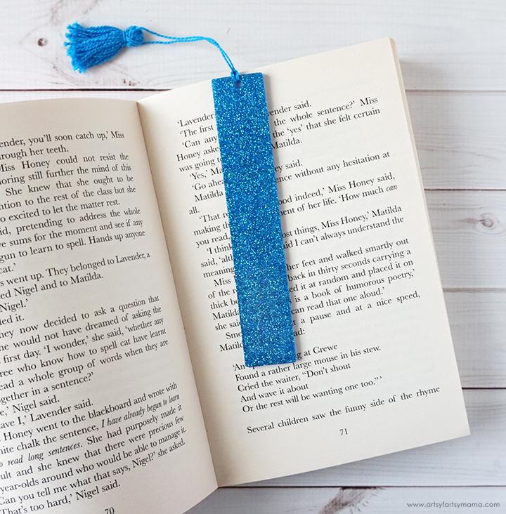 glitter bookmark