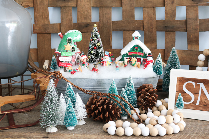 christmas miniature fairy garden