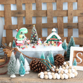 christmas fairy garden decor