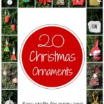 Do you love making DIY Christmas ornaments? Then you will want to download this free ebook with 20 ornaments that anyone can make! #diy #christmas #christmasornaments #christmascrafts #ebook #freebook #christmasbook #kidscrafts