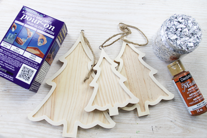 supplies to make diy christmas tree decorations
