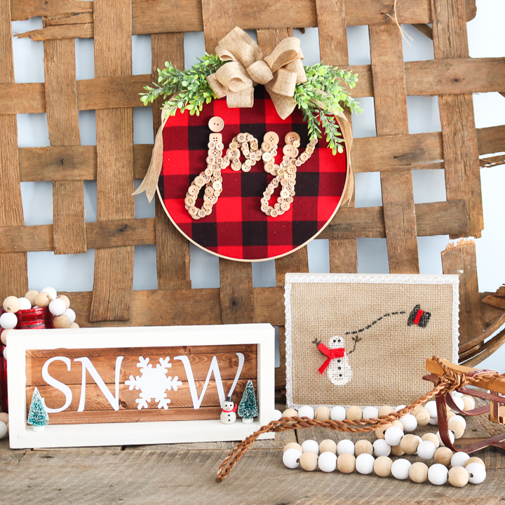 holiday hoop wreath