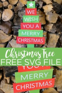 Download this free Christmas tree SVG file and use it to make your own outdoor DIY Christmas sign. You are going to love this holiday decor piece! #svg #freesvg #christmas #cricut #cricutcreated #christmastree #holiday #christmassign #pallet #palletwood #pallettree #palletsign #vinyl #vinylsign #cricutexplore #cricutmaker #cutfile #freecutfile