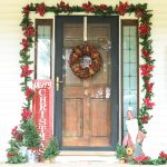 Front Porch Christmas Decorations with Farmhouse Style