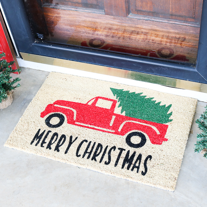truck with tree door mat