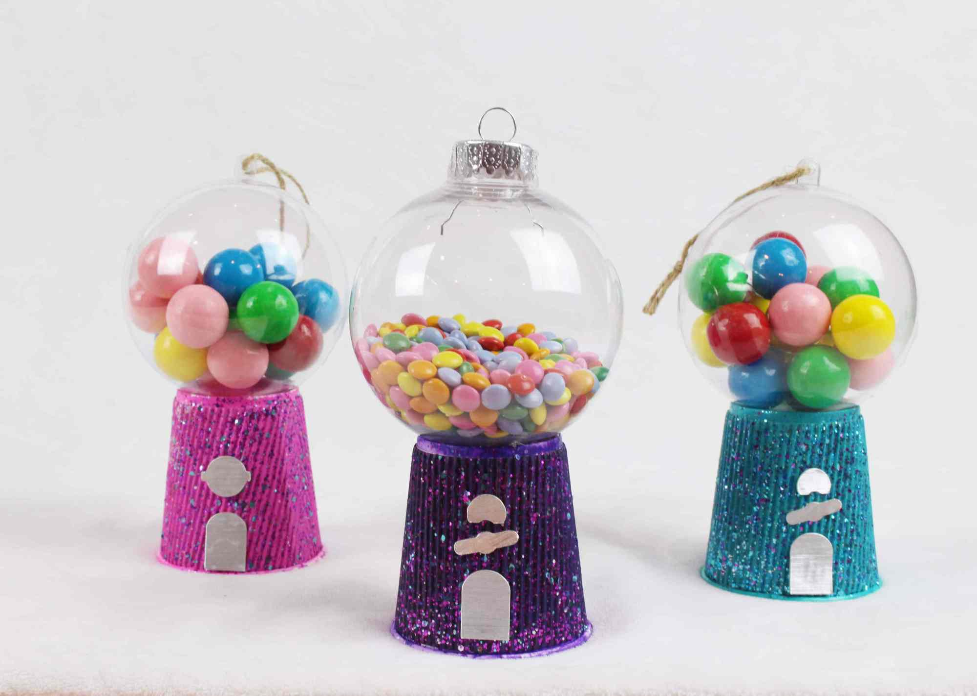 gumball machine christmas ornaments