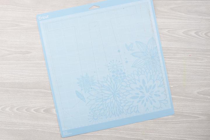blue cricut mat