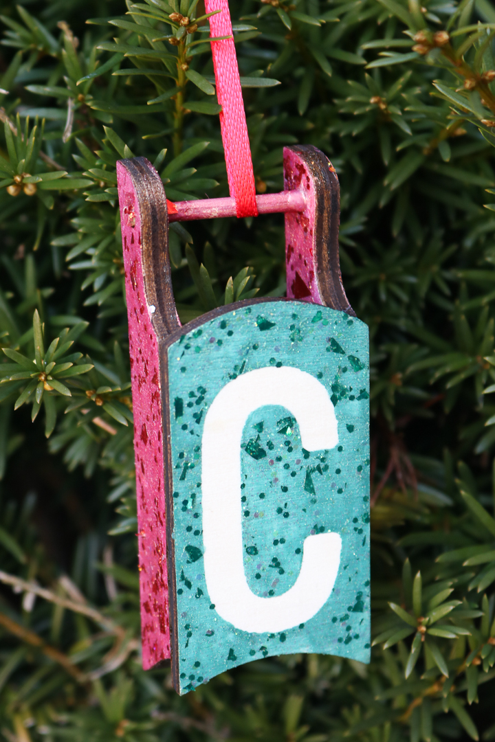 how to make an initial ornament