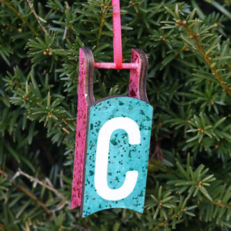 initial christmas ornament instructions