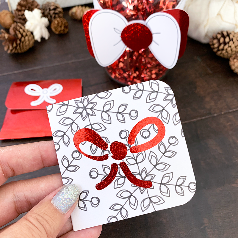 handmade gift card with cricut