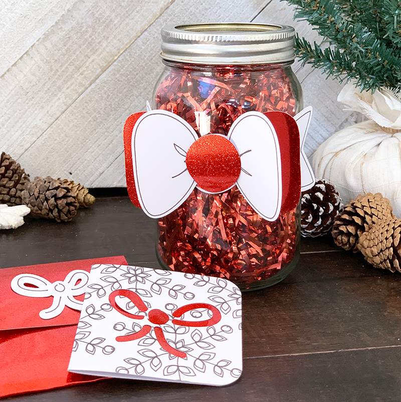 How To Decorate Christmas Gifts In A Jar With A Cricut The Country Chic Cottage
